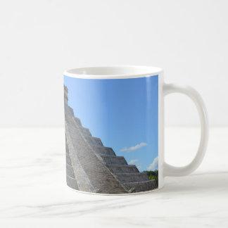Maravillas de la pirámide 7 de Chichen Itza México Taza
