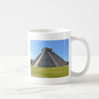 Maravillas de la pirámide 7 de Chichen Itza México Taza Clásica