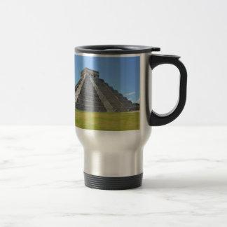 Maravillas de la pirámide 7 de Chichen Itza México Taza Térmica