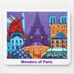 Maravillas del cojín de ratón de París Tapete De Ratones