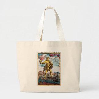 Maravillas del mundo antiguo bolsa tela grande