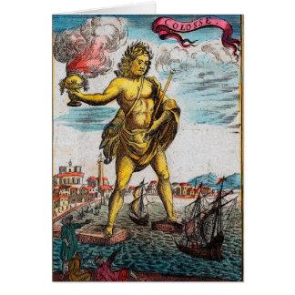 Maravillas del mundo antiguo tarjeta de felicitación