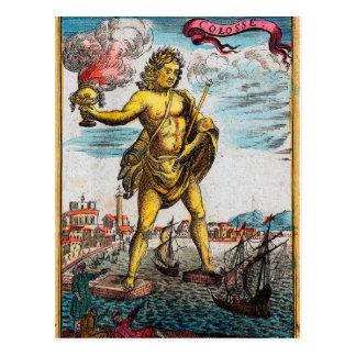 Maravillas del mundo antiguo tarjeta postal