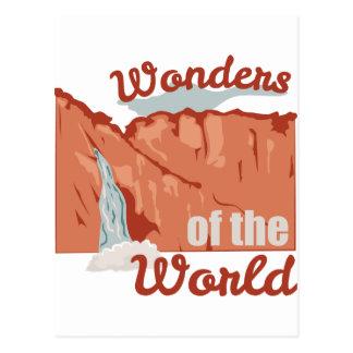 Maravillas del mundo tarjeta postal