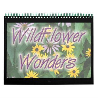 Maravillas del Wildflower Calendario De Pared