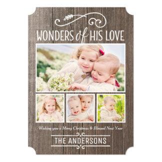 """Maravillas el suyo tarjeta del collage de la foto invitación 5"""" x 7"""""""