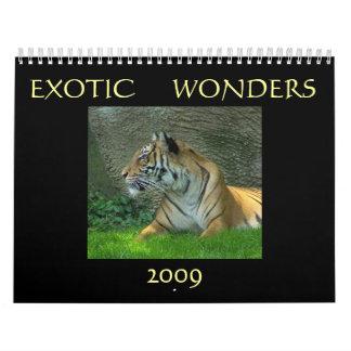 Maravillas exóticas 2009 calendarios