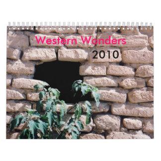 Maravillas occidentales 2010 calendarios de pared