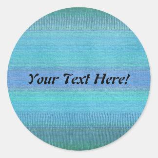 Maravillas tejidas azules pegatina redonda