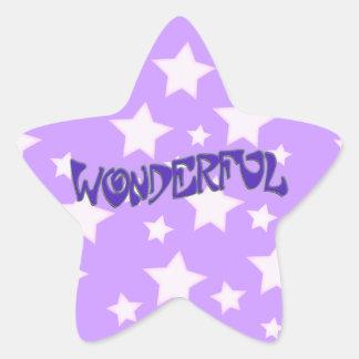 Maravilloso Pegatina En Forma De Estrella
