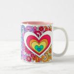 ♥ maravilloso psicodélico de la taza del amor del