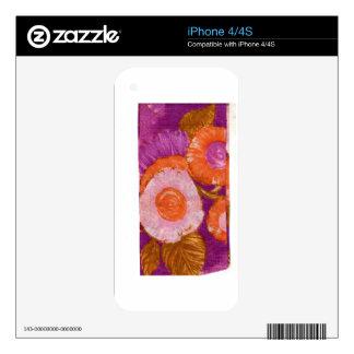 Maravilloso, remolino púrpura de la MOD Calcomanía Para iPhone 4S