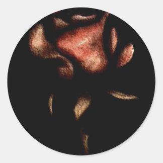 marbel rose classic round sticker
