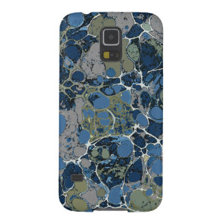 Marbelized Pattern in Shades of Blue and Tan Case For Galaxy S5