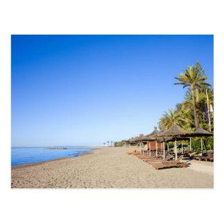 Marbella Beach and Sea on Costa del Sol in Spain Postcard