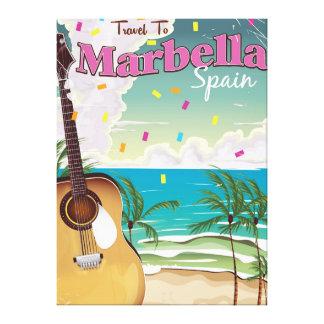 Marbella Spanish vintage holiday poster Canvas Print