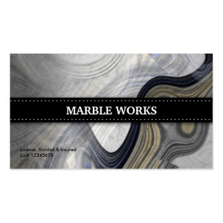 Marble Abstract Kitchen Remodeling Business Card Template