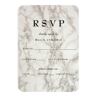 Marble Abstract RSVP Card