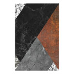 Marble abstract stationery