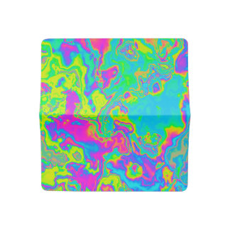 Marble Acid Checkbook Cover