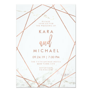 Geometric Invitations & Announcements | Zazzle