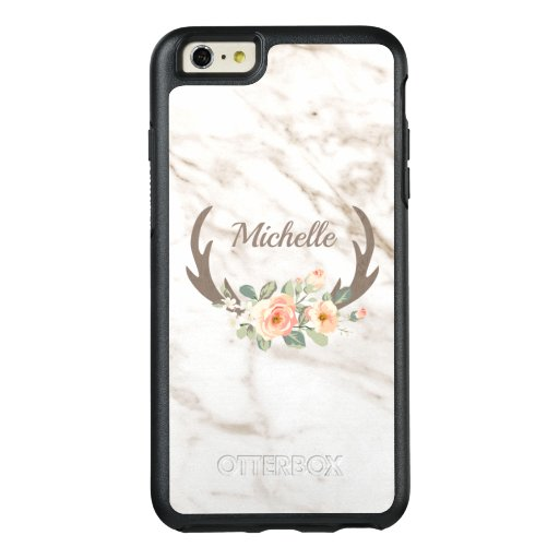 Marble And Flowers OtterBox iPhone 6/6s Plus Case