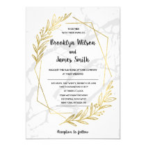Marble And Gold Effect Wedding Invitations