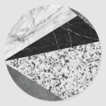Marble and Granite Abstract Classic Round Sticker