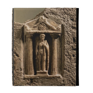Marble and sandstone votive stele with female figu iPad cases
