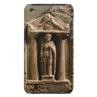 Marble and sandstone votive stele with female figu iPod touch Case-Mate case