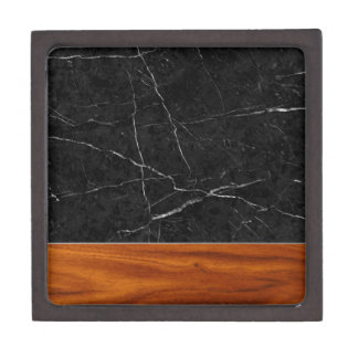 Marble and wood gift box