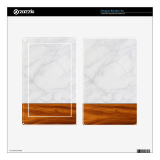 marble and wood skin for kindle fire