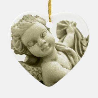 Marble Angel Ceramic Ornament