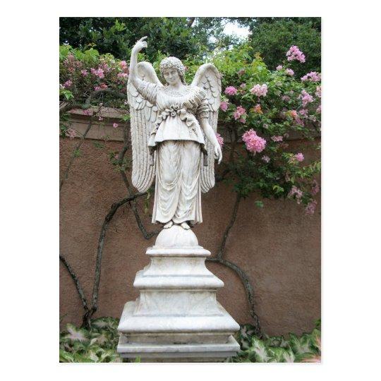 Marble Angel Statue Postcard