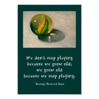 MARBLE ART PLAY REALISM POSTER