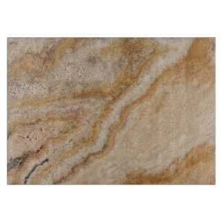 Marble Background Stone Template Tan Natural Cutting Board