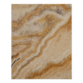 Marble Background Stone Template Tan Natural Poster