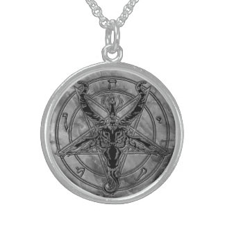 Marble Baphomet Necklace