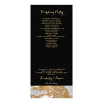 Marble Black and Gold Wedding programs