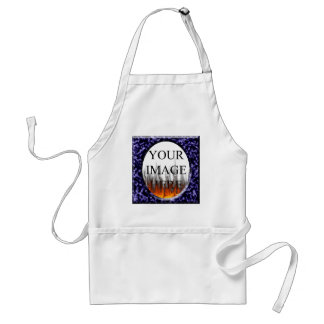 Marble Blue Square Frame Template Adult Apron