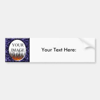 Marble Blue Square Frame Template Bumper Sticker