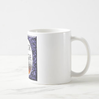 Marble Blue Square Frame Template Coffee Mug