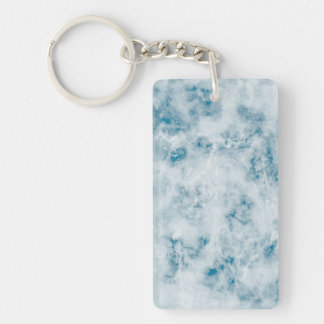 Marble Blue Texture Background Acrylic Key Chains