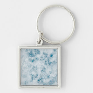 Marble Blue Texture Background Key Chain