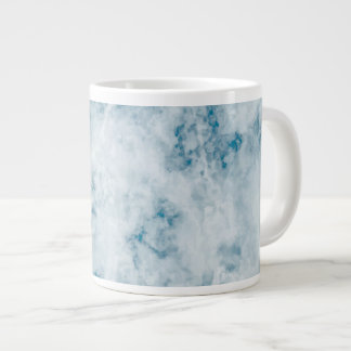 Marble Blue Texture Background Large Coffee Mug
