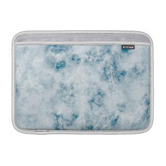 Marble Blue Texture Background MacBook Sleeve