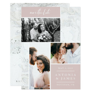 MARBLE BOXES SAVE THE DATE CARD