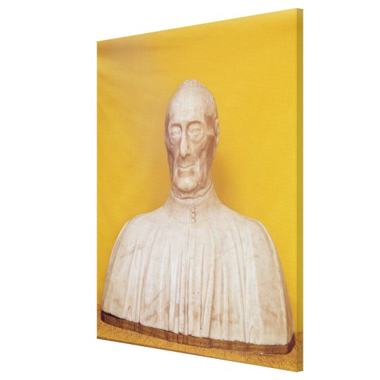 Marble bust of Giovanni Chellini Canvas Print