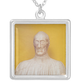 Marble bust of Giovanni Chellini Silver Plated Necklace