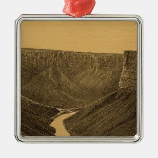 Marble Canon, Colorado River Metal Ornament